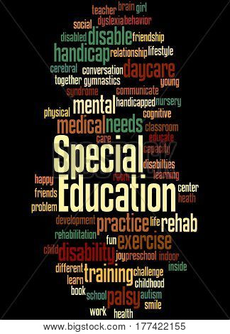 Special Education, Word Cloud Concept 4