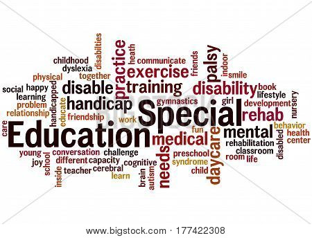 Special Education, Word Cloud Concept 6