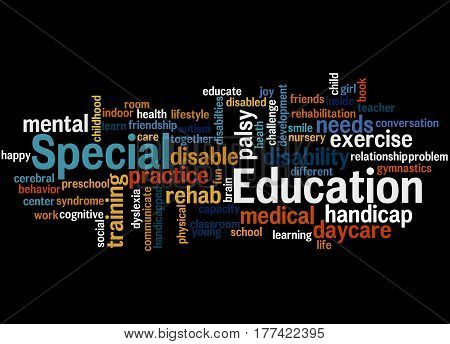 Special Education, Word Cloud Concept 7