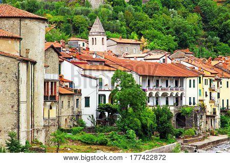 Pontremoli Village, Ligurian Province, Italy.