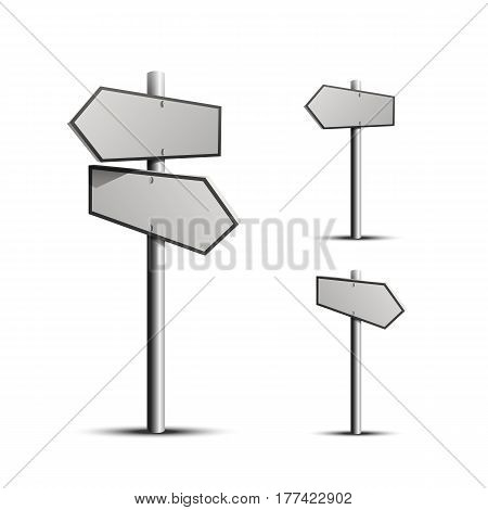 Column direction 3d, object on a white background, Vector
