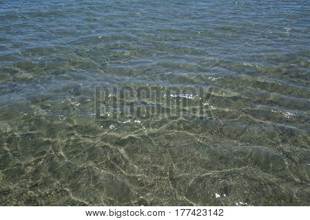 sea surface with waves sea in summer
