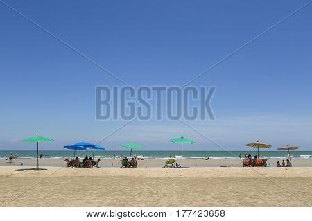 beautiful beach and tropical sea in summer