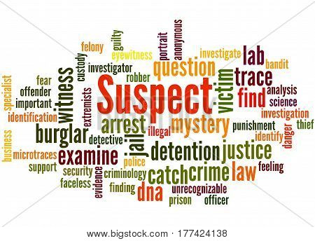 Suspect, Word Cloud Concept 5