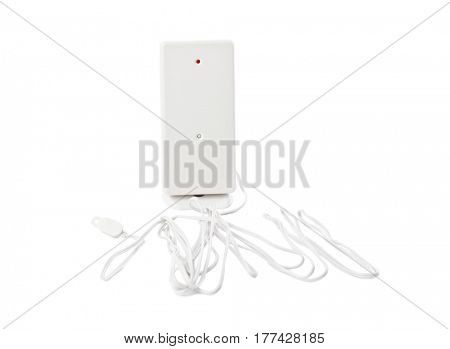 Radio thermometer for weather station isolated on white background