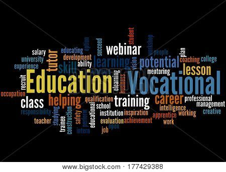 Vocational Education, Word Cloud Concept 3