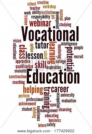Vocational Education, Word Cloud Concept 5