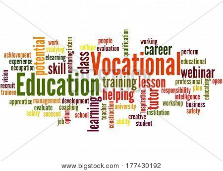 Vocational Education, Word Cloud Concept 8