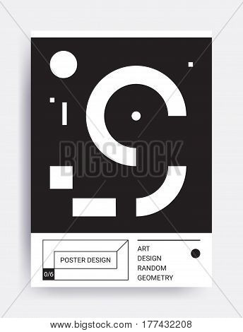 Design poster. Bright vector illustrations with geometric elements, memphis figure for interior, website banner template, social media, email, print, ads, promotional material