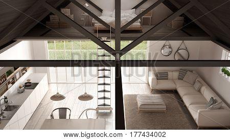 Minimalist Mezzanine Image Photo Free Trial Bigstock Best 1 Bedroom Loft Minimalist Collection