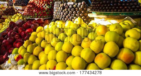Tropical Fruits at the market in Egypt