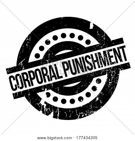 Corporal Punishment rubber stamp. Grunge design with dust scratches. Effects can be easily removed for a clean, crisp look. Color is easily changed.