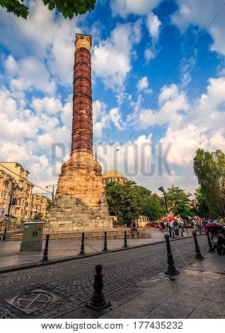 Monument Column Of Constantine In Istanbul
