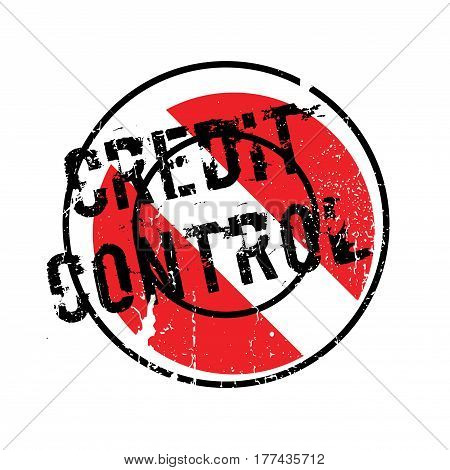 Credit Control rubber stamp. Grunge design with dust scratches. Effects can be easily removed for a clean, crisp look. Color is easily changed.