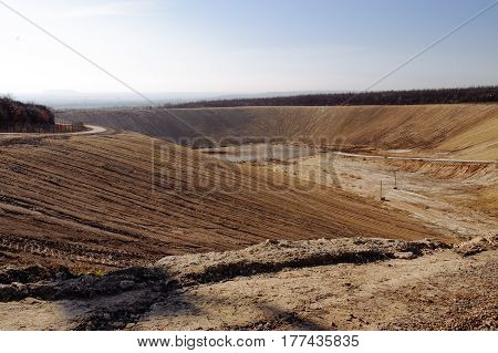 Garbage On The City Landfill. Soil Polution. Environmental Protection. Extraction Of Biogas. Quarry