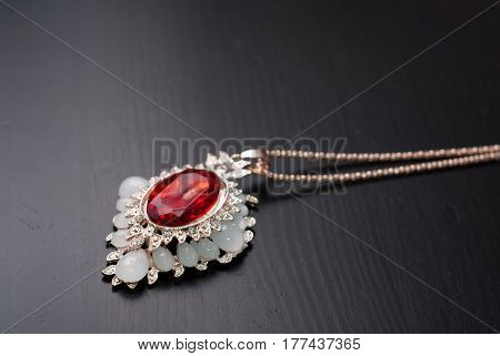 Pendant With A Red Ruby, Smyrna Jewelry,