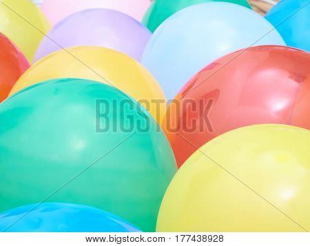 Balloons Showing Splendid Colors Closeup.