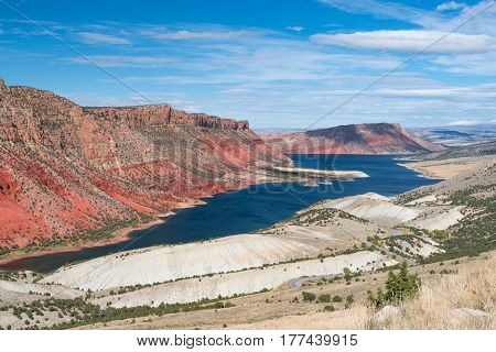 Flaming Gorge National Recreation Area on the Green River in Wyoming