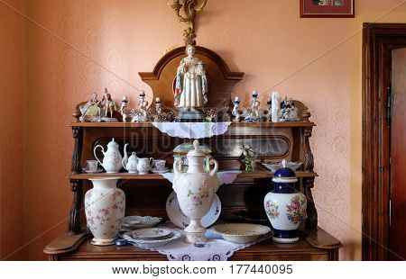 VUGROVEC, CROATIA - OCTOBER 02: Statue of the Infant of Prague in the Rectory of Saint Francis Xavier in Vugrovec, Croatia on October 02, 2015.