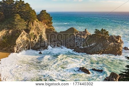 McWay Falls near Big Sur California in Julia Pfeiffer State Park