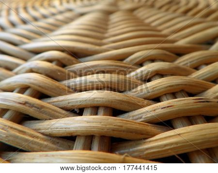 Closed up Texture and Pattern of Natural Light Brown Color Rattan Furniture