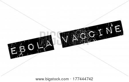 Ebola Vaccine rubber stamp. Grunge design with dust scratches. Effects can be easily removed for a clean, crisp look. Color is easily changed.