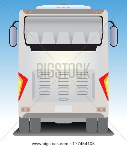 Back  View Of Tourist Bus