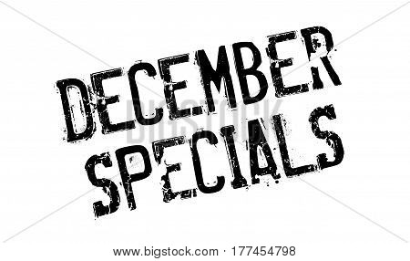 December Specials rubber stamp. Grunge design with dust scratches. Effects can be easily removed for a clean, crisp look. Color is easily changed.