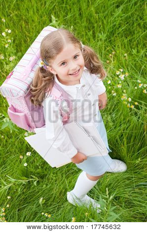 Back to school - little girl ready to school