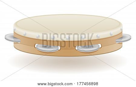 tambourine musical instruments stock vector illustration isolated on white background