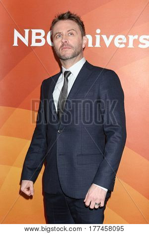 LOS ANGELES - MAR 20:  Chris Hardwick at the NBCUniversal Summer Press Day at Beverly Hilton Hotel on March 20, 2017 in Beverly Hills, CA