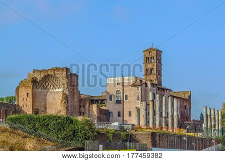 The Temple of Venus and Roma is thought to have been the largest temple in Ancient Rome