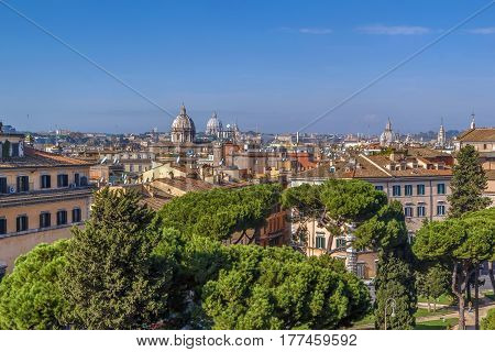 view of Rome from Monument to Victor Emmanuel II Rome