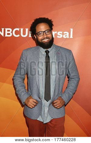 LOS ANGELES - MAR 20:  Diallo Riddle at the NBCUniversal Summer Press Day at Beverly Hilton Hotel on March 20, 2017 in Beverly Hills, CA