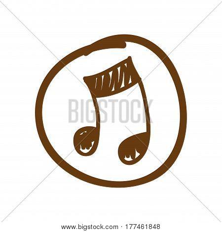 symbol music sign icon, vector illustration design