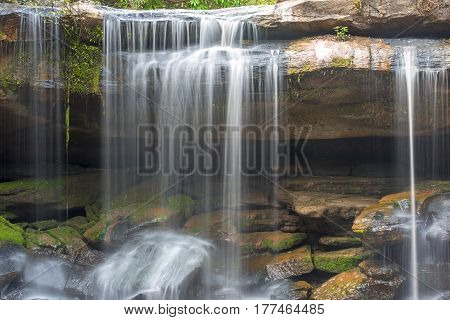 Beautiful water fall in summer for background