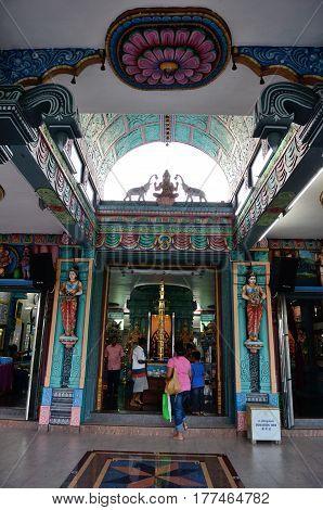Georgetown/Malaysia - September 2012: Hindu temple on Penang mountain top, Penang Island, Malaysia.