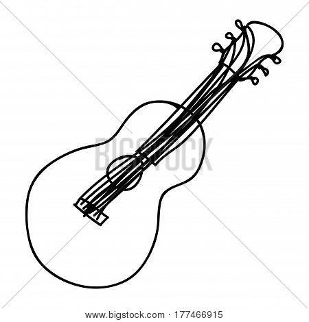 musical guitar instrument icon, vector illustration design