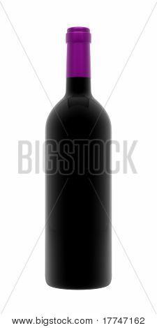 Purple Wine Bottle