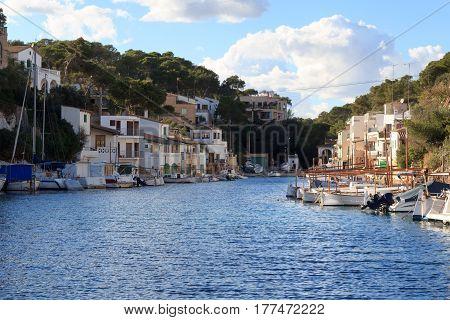 Fishing Village Cala Figuera Port, Boats And Mediterranean Sea, Majorca, Spain