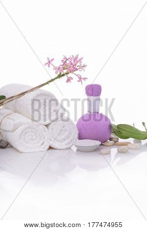 spa theme objects on white background.