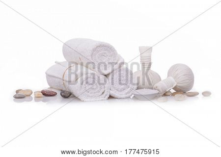 spa theme objects on white background