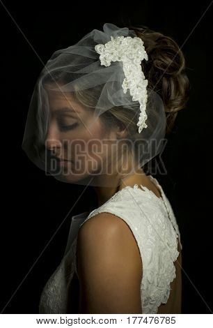 Portrait Of A Girl In Image Of The Bride