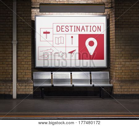Map Direction Pin Tag Location Journey