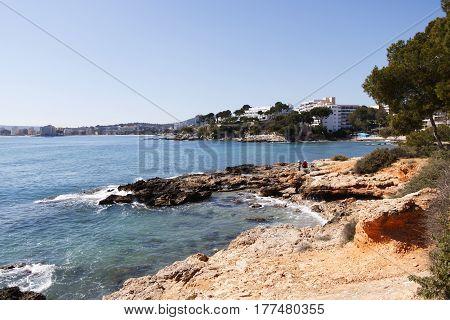 costa de la calma en Mallorca primavera.