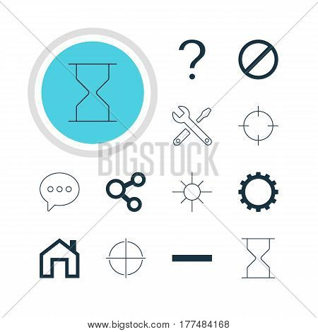 Vector Illustration Of 12 Member Icons. Editable Pack Of Mainpage, Help, Maintenance And Other Elements.