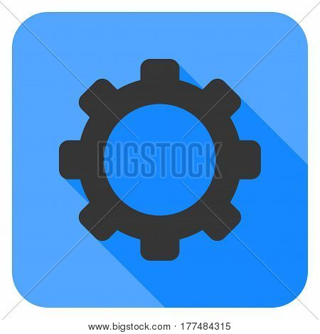 Gear With Flat Shadow flat vector pictogram.