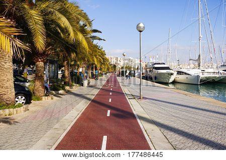 Paseo marítimo donde poder ir con tu bicicleta a pasear.