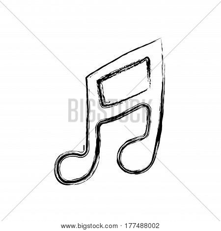 musical note sign icon, vector illustration design