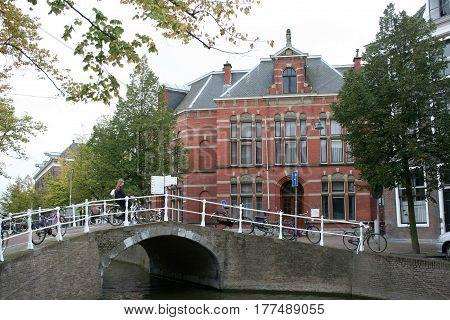 Delft Bridge In The City